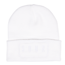 SOUR SOLUTION PRINTER BEANIE  WHITE