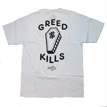 SKATCHY TANK   GREED TEE       WHITE