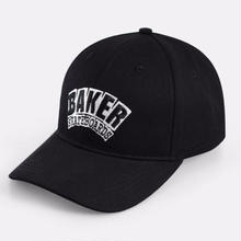 BAKER SKATEBOARDS ARCH 6 PANEL VELCRO HAT    BLACK