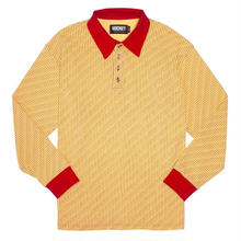 HOCKEY ALLOVER L/S POLO-GOLD