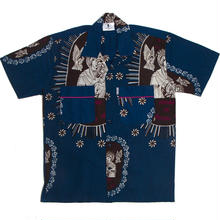 WAFFLESNCREAM  NORTE DAME SHIRT NAVY