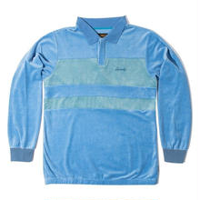 GRIZZLY TAHOE L/S POLO  SKYBLUE