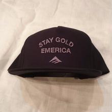 EMERICA GOLD STANDARD SNAPBACK  black