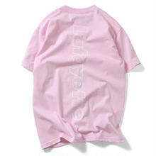 LAFAYETTE  OUT LINE HUGE LOGO TEE PINK