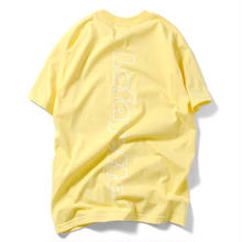 LAFAYETTE  OUT LINE HUGE LOGO TEE YELLOW