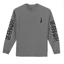 DEATH WISH LANDMARK L/S TEE   C,GREY