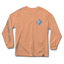 JHF ALL CAPS L/S TEE PEACH