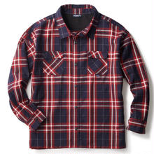INTERBREED WIDE RANGE PLAID SHIRT RED