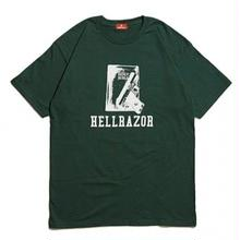 HELLRAZOR WAITING FOR CALL TEE  F,GREEN