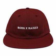 BORNxRAISED     CORPS STRAPBACK: BURGUNDY