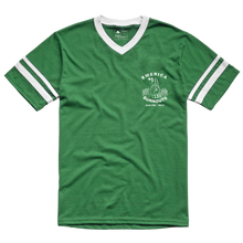 EMERICA HARSH BASEBALL V-NECK TEE GREEN