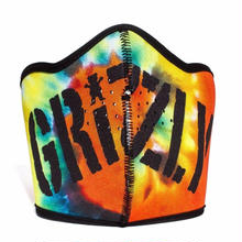 GRIZZLY STAMP MASK IN ORANGE TIE-DYE
