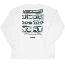 STATE NYC COUNTERFEIT L/S TEE  WHITE