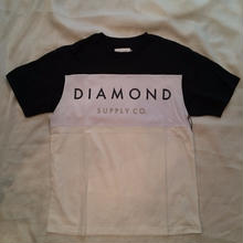 DIAMOND SUPPLY CO YACHT COLORBLOCK TEE navy