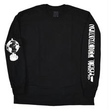 STRAYE GROBAL PNETRATION  L/S TEE  BLACK