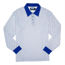 HOCKEY ALLOVER L/S POLO-WHITE