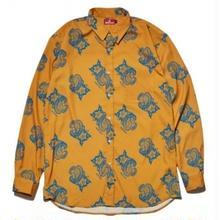 HELLRAZOR PAISLEY DRESS SHIRTS-YELLOW