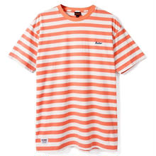 BUTTER GOODS CYCLE STRIPE TEE, PEACH / WHITE