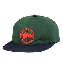 BUTTER GOODS PEAK 6 PANEL CAP   FOREST / NAVY