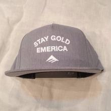 EMERICA GOLD STANDARD SNAPBACK  grey