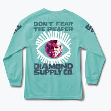 DIAMOND SUPPLY CO REAPER L/S TEE  D,BLUE