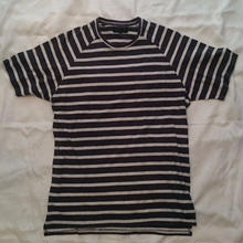 KR3W  PUNX TEE     dark navy stripe