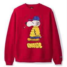 BUTTER GOODS LO GOOSE CHAMPION CREWNECK- RED