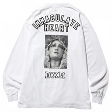 BORN X RAISED IMMACULATE HEART L/S TEE  WHITE