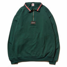 HELLRAZOR LINING HARF ZIP SWEATER  HUNTER GREEN