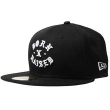 BORNXRAISED NEW ERA FITTED ROCKER BLACK