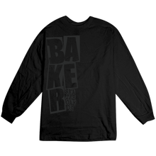 BAKER SKATEBOARDS  STACKED  L/S TEE