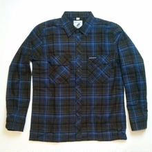 BRIXTON HARD LUCK  RIDER L/S FLANNEL      BLUE/GREEN