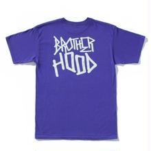 BROTHER HOOD ICONIC STACKED TEE   PURPLE