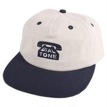 DIAL TONE DIAL STRAPBACK CAP  CREAM