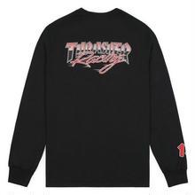 THRASHER RACING L/S TEE-BLACK