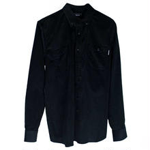 ON OUR OWN CORDUROY BUTTON UP SHIRT   BLACK