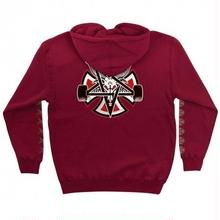 INDEPENDENT X THRASHER PENTAGRAM CROSS PULLOVER HOODIE GARNET
