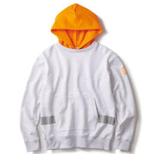 INTERBREED NIGHT WATCHMAN PULL OVER HOODIE ASH