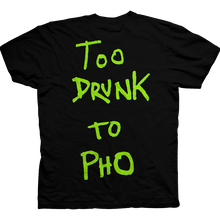 BAKER SKATEBOARDS TOO DRUNK TO PHO TEE     BLACK