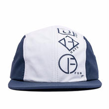 JHF COASTLINE CAMPER HAT   WHITE/NAVY
