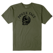EMERICA POKER FACE TEE  M,GREEN