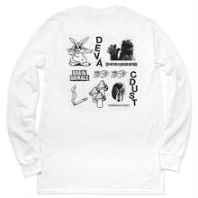 DEVA STATES BRAIN DAMAGE L/S TEE  WHITE