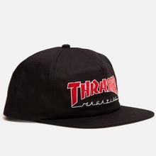 THRASHER    OUTLINED SNAPBACK HAT    BLACK