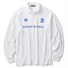 MTA X INTERBREED SUBWAY HISTORY RUGBY SHIRT   WHITE
