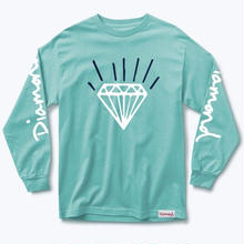 DIAMOND SUPPLY CO GEM L/S TEE  D,BLUE