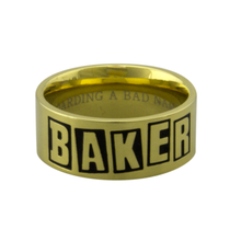 BAKER SKATEBOARDS BRAND LOGO RING