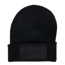 SOUR SOLUTION PRINTER BEANIE  BLACK