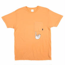 RIPNDIP  FALLING FOR NERMAL POCKET TEE    PEACH
