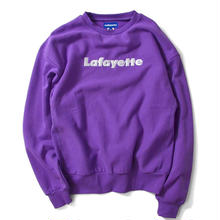 LAFAYETTE LOGO US COTTON CREW NECK SWEATSHIRT PURPLE