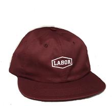 LABOR CREST LOGO CLOSURE CAP     MAROON